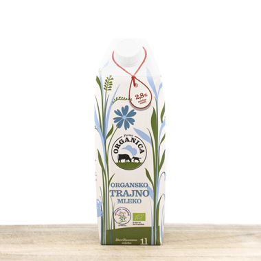 Organic ultra-pasteurized long life milk 1l