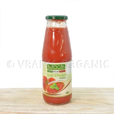 Organski Pasirani paradajz sa bosiljkom 680g