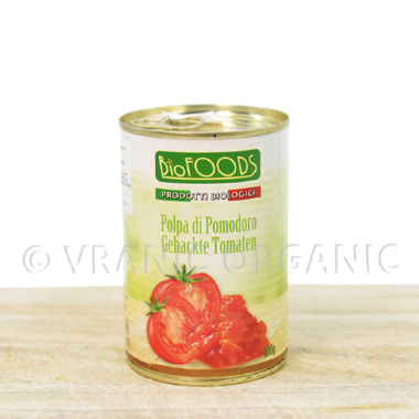 Organic sliced tomato in a can 400g