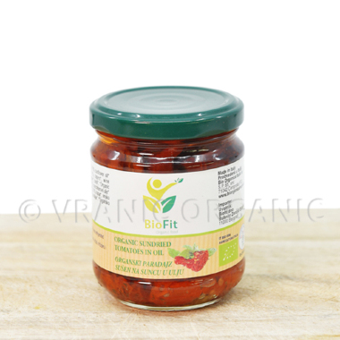 Organic dry tomato in oil 190g