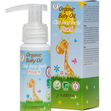 Organic Baby oil peach 50ml